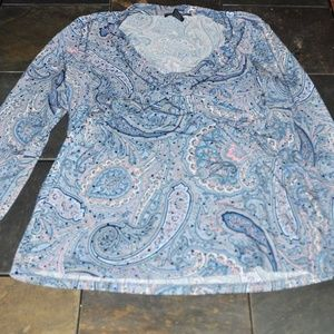 International Concepts size M top with Blue bling